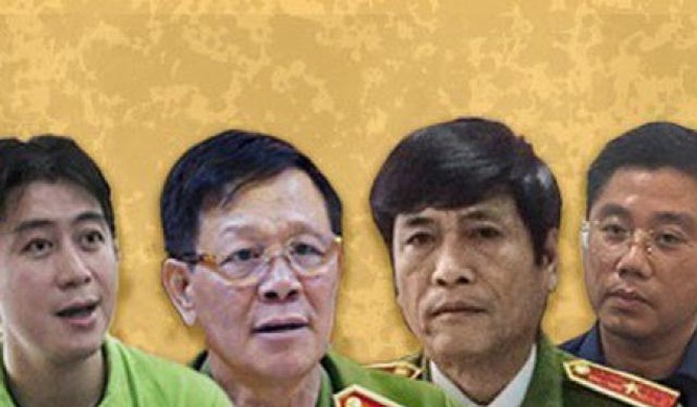 """Ông Phan Văn Vĩnh - cựu Tổng cục trưởng Tổng cục Cảnh sát và các """"ông trùm"""" của tổ chức đánh bạc qua mạng hơn 9.000 tỷ đồng."""