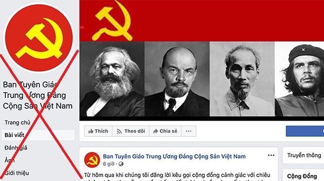 Trang Facebook mạo danh Ban Tuyên giáo Trung ương vừa bị xóa