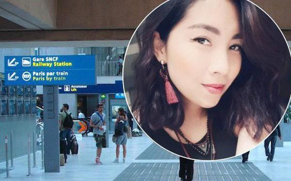 Công dân Việt Nam Phạm Thị Tuyết Mai tại nơi cô bị bắt - sân bay Charles de Gaulle (Pháp).