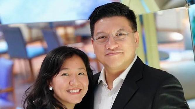 Lê Diệp Kiều Trang cùng chồng là Sonny Vũ, hai nhà khởi nghiệp nổi tiếng. Ảnh: Facebook Christy Le