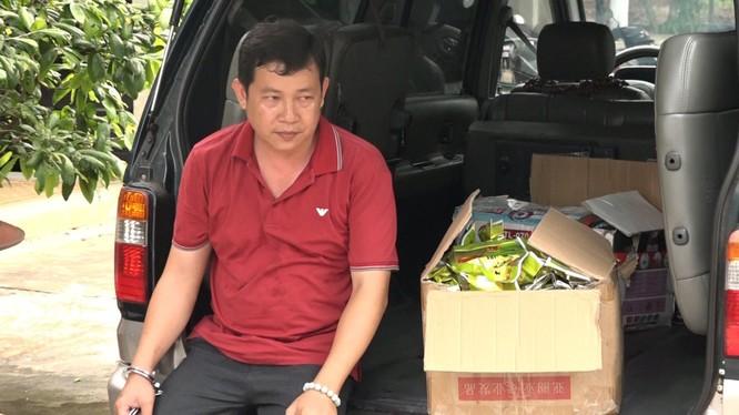 Đối tượng Trương Quốc Cường cùng tang vật bị thu giữ