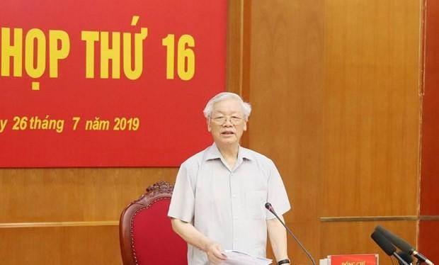 Ban Chỉ đạo Trung ương về phòng, chống tham nhũng đã họp phiên thứ 16 dưới sự chủ trì của Tổng bí thư, Chủ tịch nước Nguyễn Phú Trọng, Trưởng ban chỉ đạo.