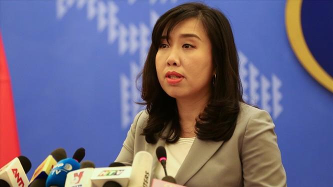 Người phát ngôn Bộ Ngoại giao Lê Thị Thu Hằng cho biết nhóm tàu địa chất Hải Dương 8 của Trung Quốc đã dừng khảo sát địa chấn và rời khỏi vùng đặc quyền kinh tế và thềm lục địa phía đông nam Việt Nam.