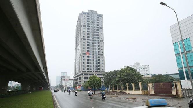 Chung cư của cán bộ, chiến sĩ Báo Công an nhân dân được xây dựng tại xã Thanh Liệt, Thanh Trì, Hà Nội