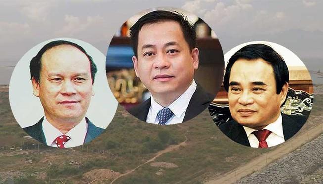 """Việc bán nhà đất công sản, chủ yếu cho """"Vũ nhôm"""" (giữa) sai luật có sự tiếp tay của cá nhân lãnh đạo TP Đà Nẵng lúc bây giờ có ông Trần Văn Minh (trái), Văn Hữu Chiến (phải)."""
