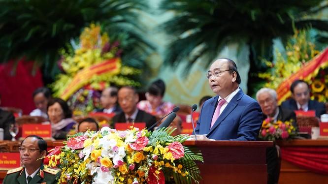 Thủ tướng Nguyễn Xuân Phúc phát biểu tại Đại hội.