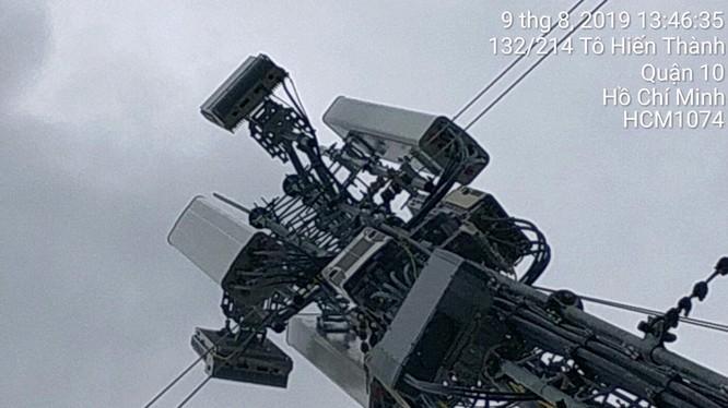 Hình ảnh trạm 5G Viettel lắp đặt tại phường 12, Q.10, TP.HCM