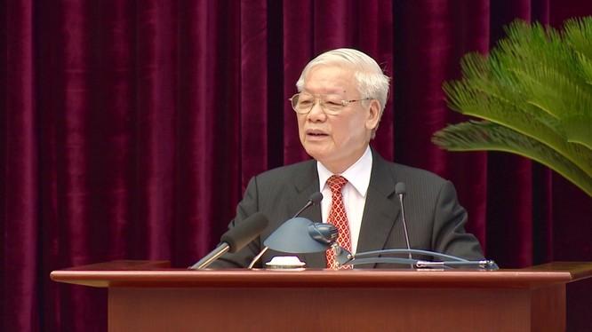 Tổng Bí thư, Chủ tịch nước Nguyễn Phú Trọng phát biểu bế mạc Hội nghị.
