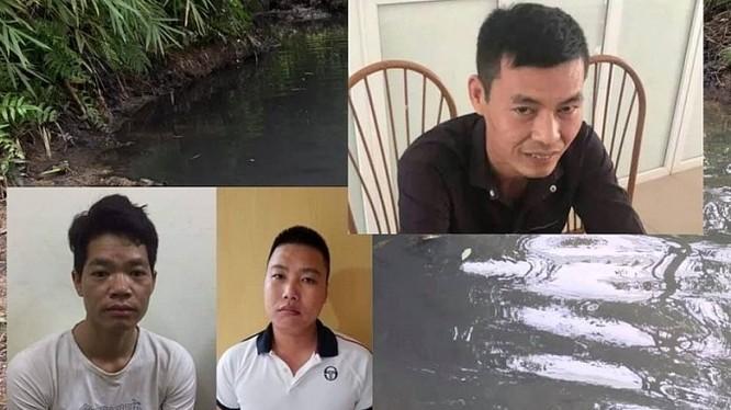 3 đối tượng thực hiện hành vi xả chất thải gây ô nhiễm nguồn nước sông Đà vừa bị tạm giữ.