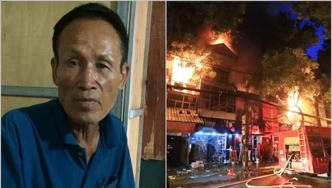 Bị can Nguyễn Thế Hiệp và vụ cháy khiến 2 người thiệt mạng, gây thiệt hại gần 1,9 tỷ đồng.