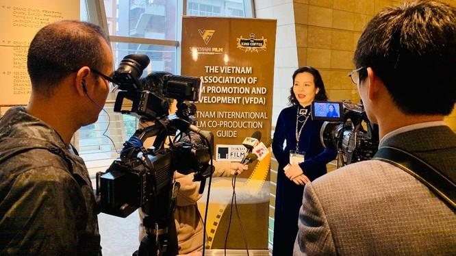 Bà Ngô Phương Lan - Chủ tịch Hiệp hội Xúc tiến Phát triển Điện ảnh Việt Nam.