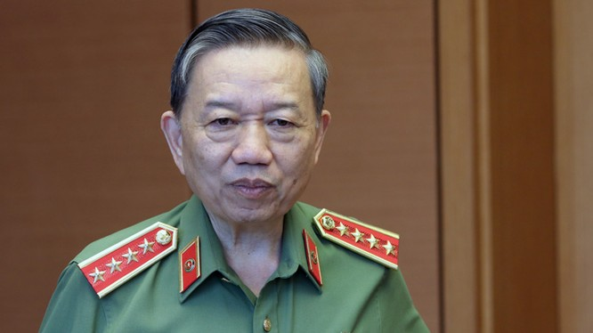 Bộ trưởng Bộ Công an Tô Lâm.