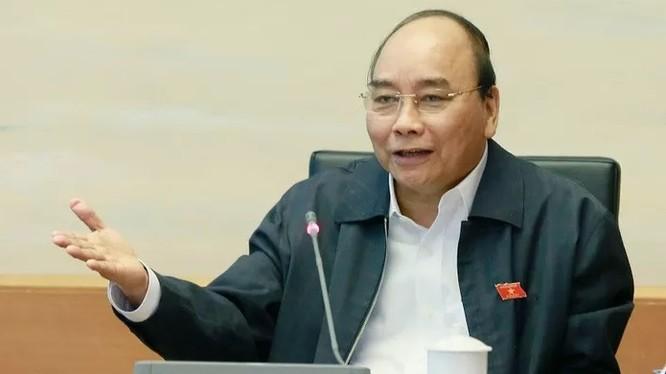 Thủ tướng Nguyễn Xuên Phúc phát biểu tại tổ - Ảnh: Quang Phúc.