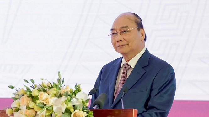 Thủ tướng Nguyễn Xuân Phúc phát biểu tại lễ khai trương