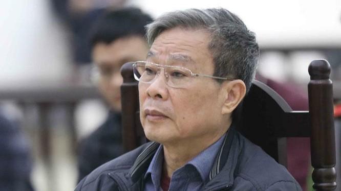 Cựu Bộ trưởng Thông tin và Truyền thông Nguyễn Bắc Son bị tuyên phạt tù chung thân. Ảnh: TTXVN.