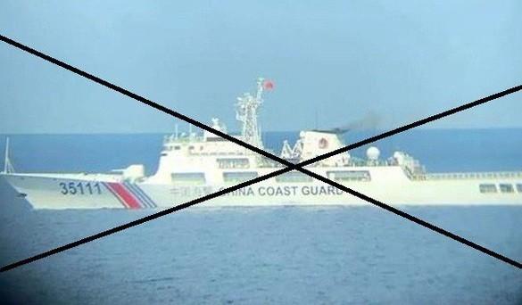 Một số nguồn tin cho rằng tàu hải cảnh 35111 của Trung Quốc hướng về vùng biển Việt Nam. Ảnh: Bộ Ngoại giao