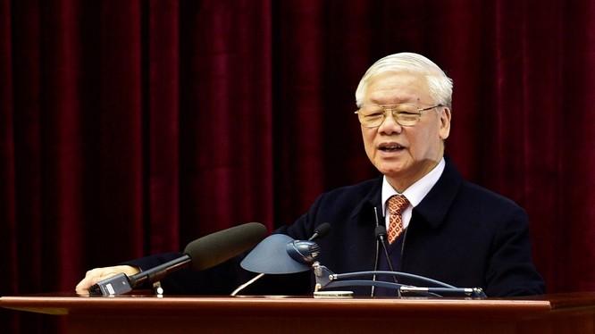 Tổng Bí thư, Chủ tịch nước Nguyễn Phú Trọng phát biểu tại Hội nghị. Ảnh: VGP