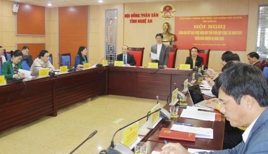 Một cuộc làm việc của HĐND tỉnh Nghệ An. Ảnh minh họa: UBND tỉnh Nghệ An