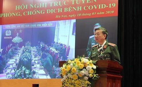 Bộ trưởng Tô Lâm phát biểu tại Hội nghị. Ảnh: Bộ Công an