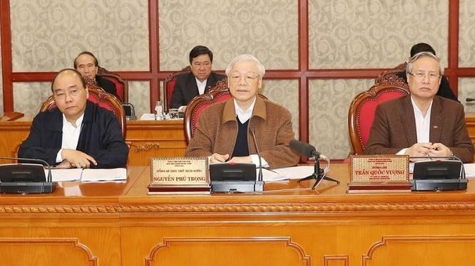 Tổng Bí thư, Chủ tịch nước Nguyễn Phú Trọng chủ trì phiên họp của Bộ Chính trị về công tác phòng, chống dịch COVID-19, vừa diễn ra sáng nay (20/3).