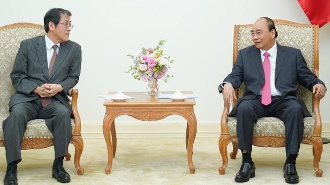 Thủ tướng Nguyễn Xuân Phúc tiếp ông Kunio Umeda, Đại sứ Nhật Bản tại Việt Nam. Ảnh: VGP.