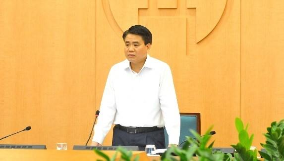 Chủ tịch UBND TP. Hà Nội Nguyễn Đức Chung đề nghị công bố hoạt động đi lại của các ca bệnh từ Công ty Trường Sinh. Ảnh: UBND TP. HN.