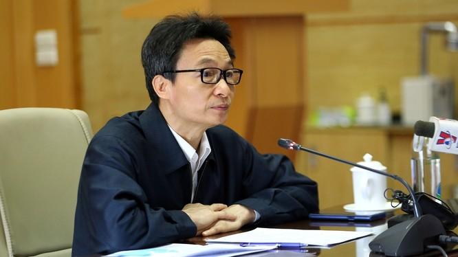 Phó Thủ tướng Vũ Đức Đam tại cuộc họp của Ban Chỉ đạo Phòng, chống COVID-19 sáng nay. Ảnh: VPCP.