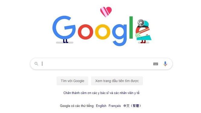 Hình ảnh tại trang chủ Google Việt Nam ngày 13/4. Ảnh chụp màn hình - Anh Lê.