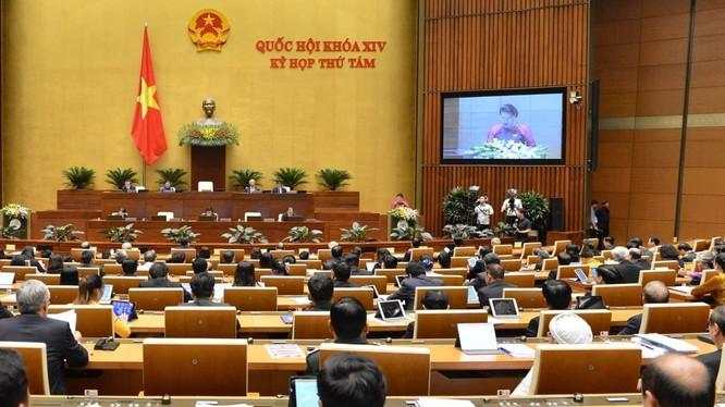 Một phiên làm việc của kì họp thứ 8, Quốc hội khóa XIV - tháng 12/2019. Ảnh: Quochoi.vn