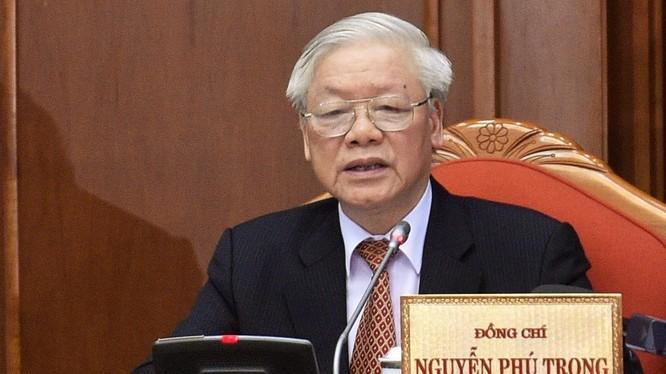 Tổng Bí thư, Chủ tịch nước Nguyễn Phú Trọng phát biểu tại bế mạc Hội nghị lần thứ 12 Ban Chấp hành Trung ương Đảng khóa XII. Ảnh: VGP.
