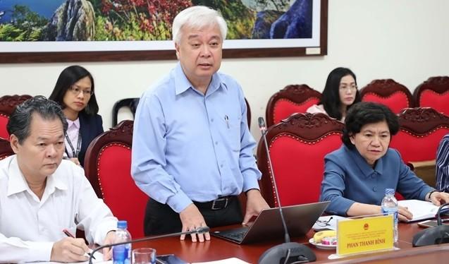 Chủ nhiệm Ủy ban Văn hóa, Giáo dục, Thanh niên, Thiếu niên và Nhi đồng Phan Thanh Bình. Ảnh: Quochoi.vn
