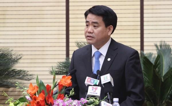 Ông Nguyễn Đức Chung sẽ bị điều tra để làm rõ trách nhiệm có liên quan trong một số vụ án theo quy định của pháp luật. Ảnh: Hanoi.gov.vn