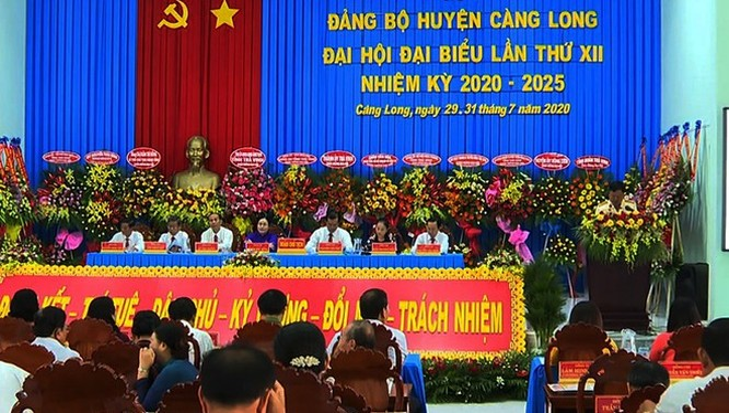 Tỉnh ủy Trà Vinh chỉ định Bí thư Huyện ủy Càng Long ngay tại đại hội ẢNH: CTV