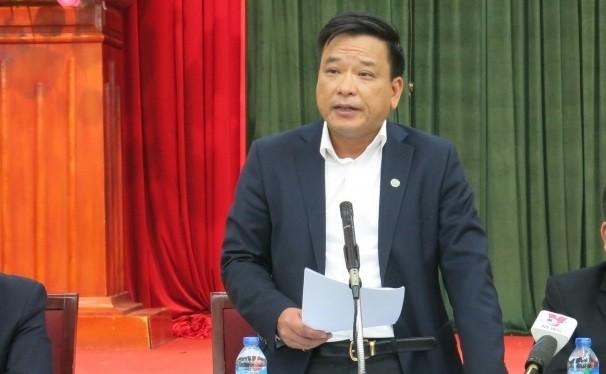 Ông Võ Tiến Hùng - Tổng Giám đốc Công ty trách nhiệm hữu hạn một thành viên Thoát nước Hà Nội. Ảnh: hanoi.gov.vn.