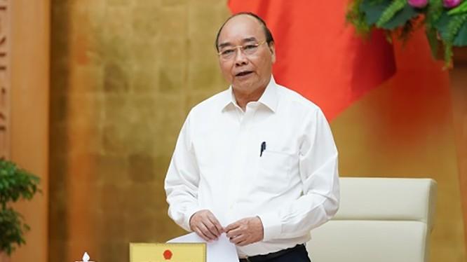 Thủ tướng Nguyễn Xuân Phúc phát biểu tại cuộc họp. Ảnh: UBND TP. Hà Nội
