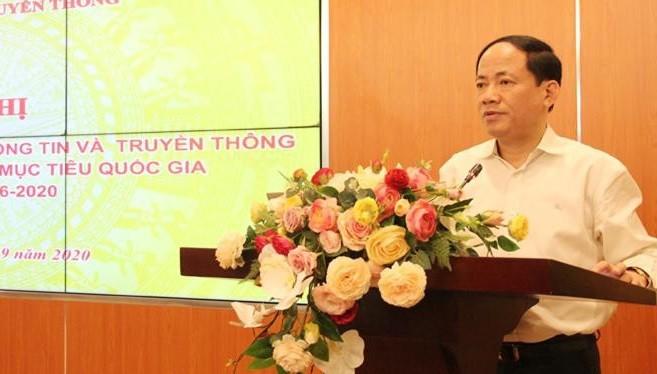 Thứ trưởng Phạm Anh Tuấn phát biểu tại Hội nghị. Ảnh MIC.