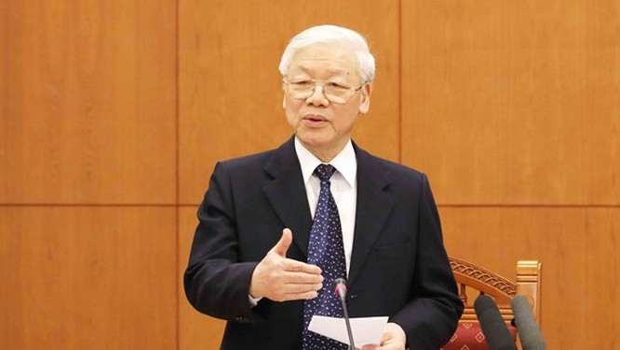 Tổng Bí thư, Chủ tịch nước Nguyễn Phú Trọng - Trưởng Tiểu ban văn kiện Đại hội XIII của Đảng.