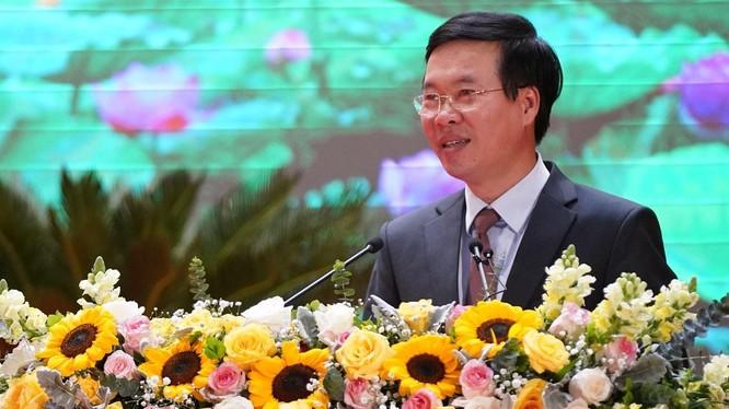 Ông Võ Văn Thưởng đánh giá, trong nhiệm kỳ Đại hội XII, ngành Tuyên giáo đã hoàn thành xuất sắc nhiệm vụ. Ảnh: Ban Tuyên giáo.