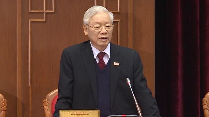 Đồng chí Nguyễn Phú Trọng tại Hội nghị lần thứ I Ban Chấp hành Trung ương khoá XIII.