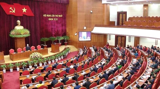 Toàn cảnh Hội nghị lần thứ I Ban Chấp hành Trung ương Đảng khoá XIII.