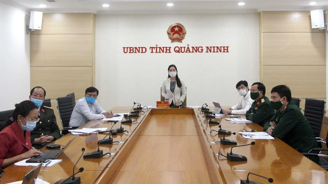 Bà Nguyễn Thị Hạnh - Phó Chủ tịch UBND tỉnh - báo cáo với Thủ tướng Chính phủ.