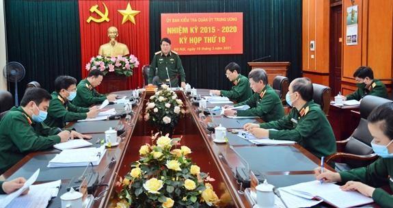 Đại tướng Lương Cường - Ủy viên Bộ Chính trị, Ủy viên Thường vụ QUTƯ, Chủ nhiệm Tổng cục Chính trị, Chủ nhiệm UBKT QUTƯ - chủ trì kỳ họp.