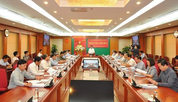 Toàn cảnh Kỳ họp thứ 2 của Uỷ ban Kiểm tra Trung ương.