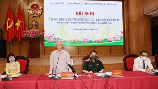 Tổng Bí thư Nguyễn Phú Trọng, Bí thư Quân uỷ Trung ương trình bày Chương trình hành động.