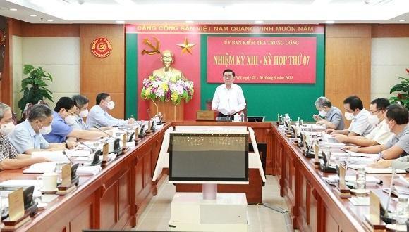 Toàn cảnh cuộc họp kỳ thứ 7 của Uỷ ban Kiểm tra Trung ương.