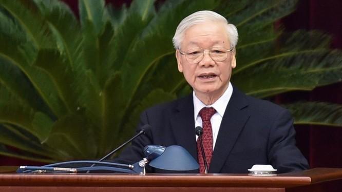 Tổng Bí thư Nguyễn Phú Trọng phát biểu khai mạc Hội nghị Trung ương 4 khóa XIII