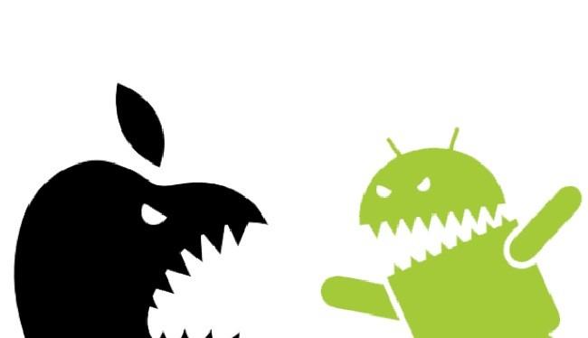 Điện thoại Android thua kém iPhone? (ảnh: Phone Arena)