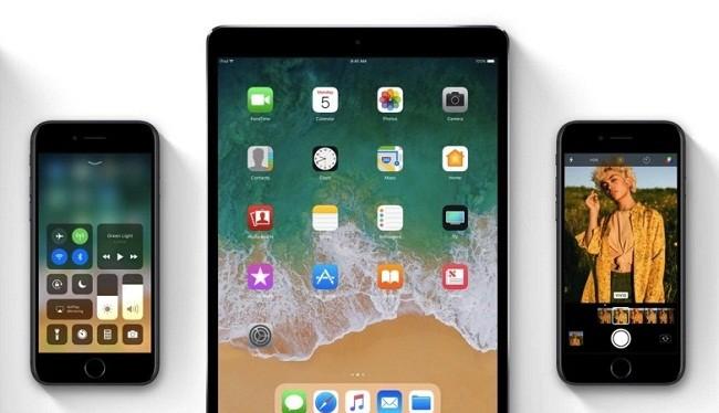 iPhone và iPad nâng cấp lên iOS 11 đều hết pin nhanh gấp hai lần iOS 10 (Nguồn: Apple)