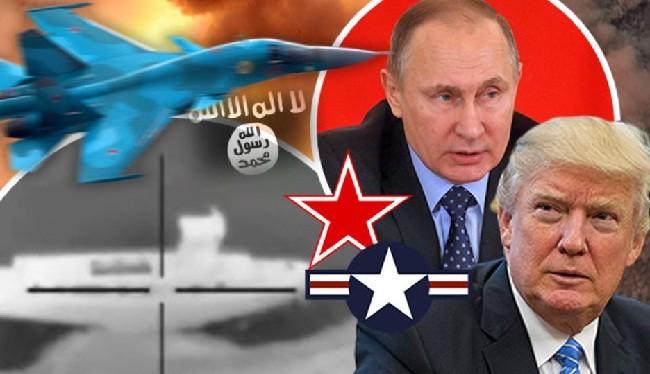 """Nga """"lật mặt nạ"""" Mỹ tại Syria (ảnh: Dailystar)"""