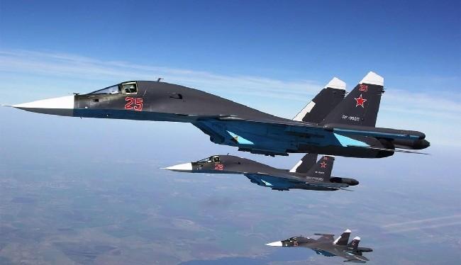 Chiến đấu cơ Su-34 của Nga tham chiến ở Syria (ảnh: SouthFront)